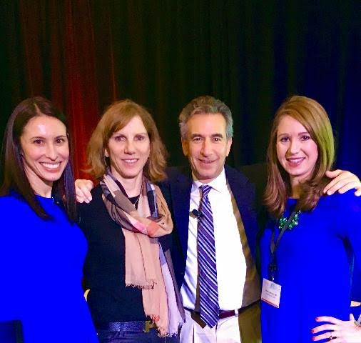 South Coast Dermatology Physicians, Dr. Susan DeCoste and Dr. Heidi Anderson with Drs. Steve Yoelin and Sarah Levey at the Kybella Connect Forum March 11th 2017 Boston, MA