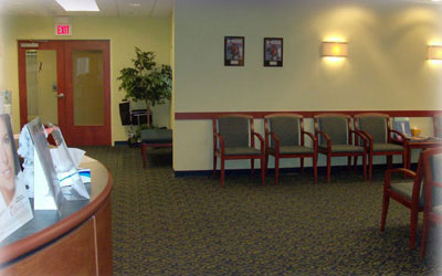 South Coast Dermatology reception and waiting area
